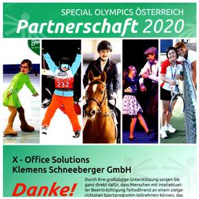 XOS Special Olympics Partnerschaft 2020