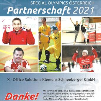 XOS Special Olympics Partnerschaft 2021
