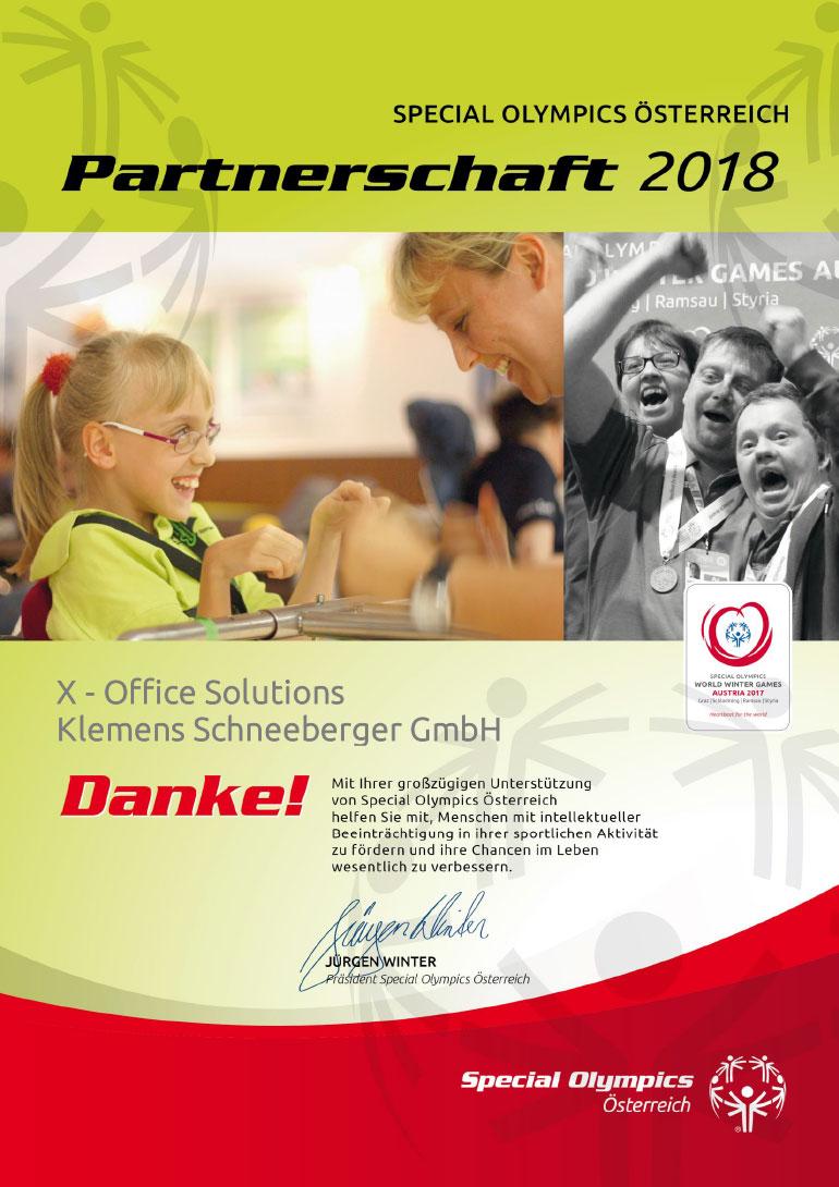 Special Olympics Partnerschaft