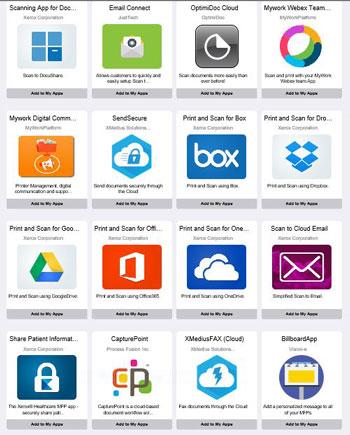 Xerox App Gallery