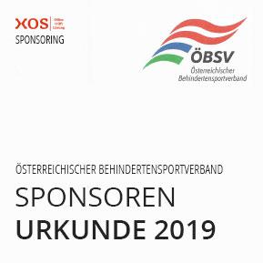 Förderung des Behindertensportverband 2019